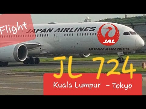 Japan Airlines Boeing 787-9 JL 724 KLIA ✈ Tokyo Narita | Best Economy Class Flight - Free Souvenir