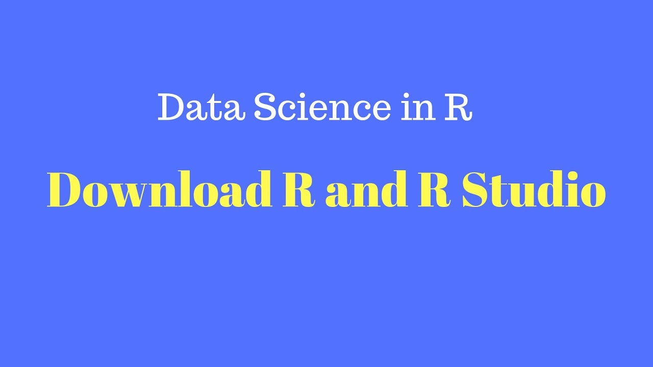 data science r tutorial
