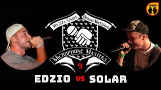 EDZIO vs SOLAR @ Microphone Masters 9 @ freestyle battle