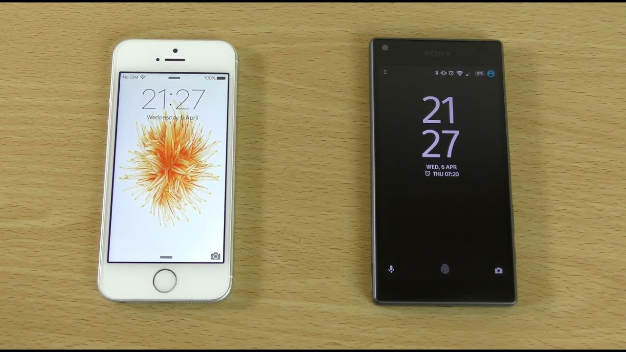 sony z5 compact. apple iphone se vs sony xperia z5 compact - speed \u0026 battery test! youtube