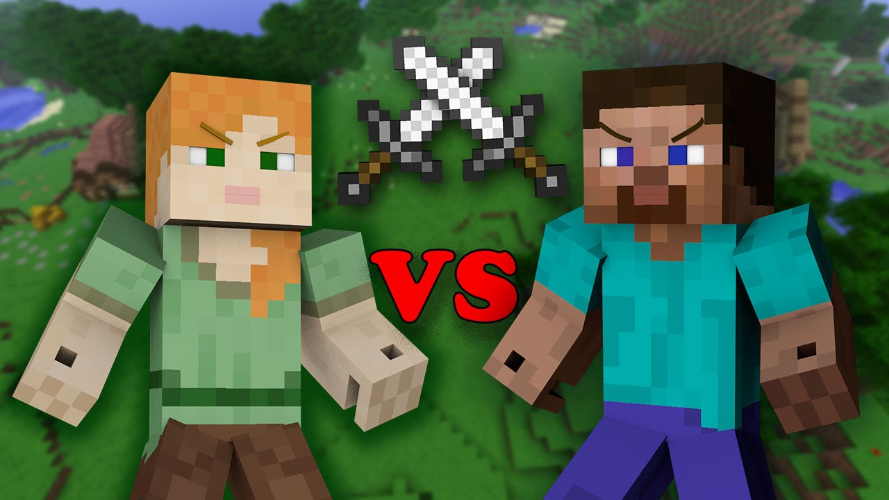 alex vs steve minecraft youtube