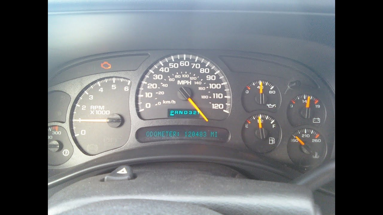 03 Silverado speedometer stuck (case review)