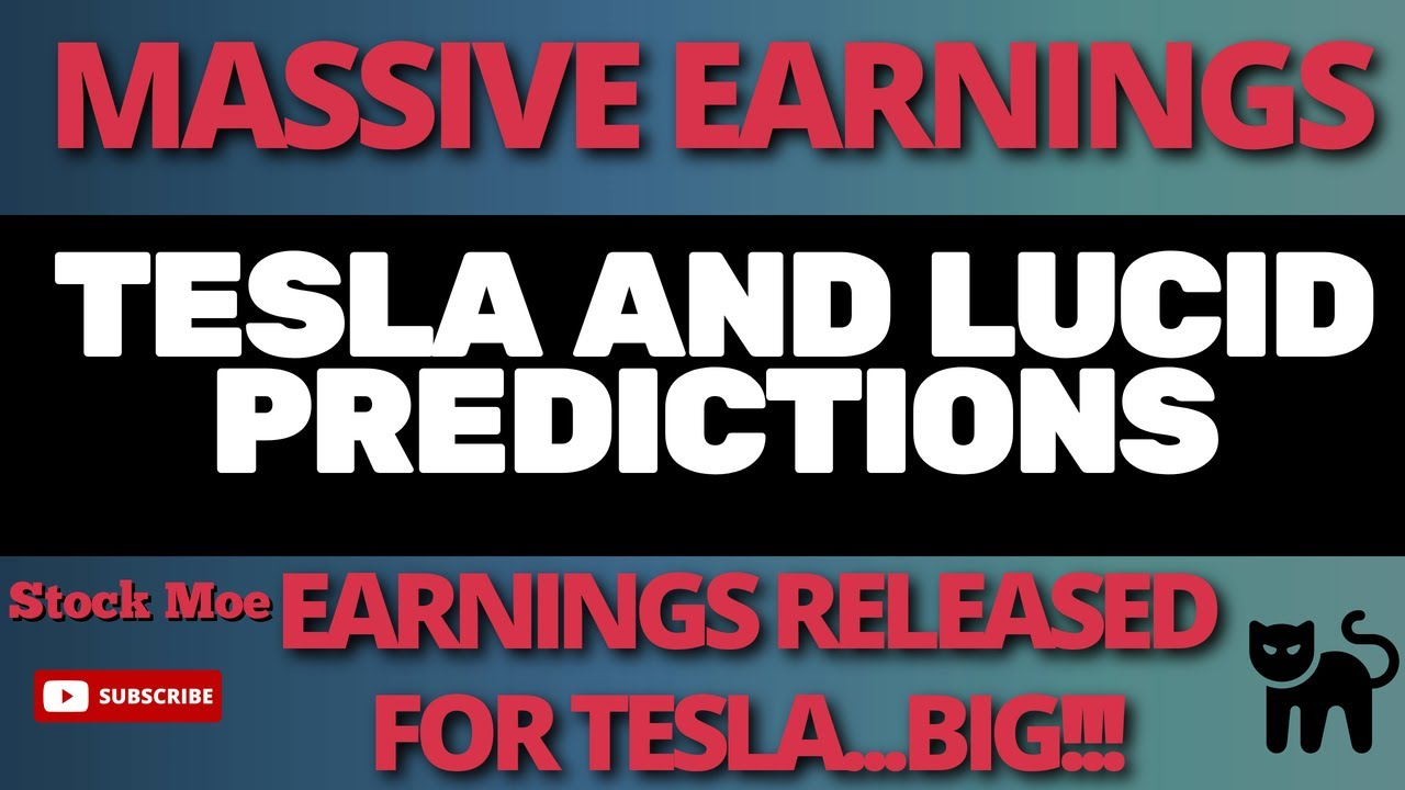 MASSIVE TESLA STOCK EARNINGS UPDATE WITH FIRST ANALYST LUCID STOCK PRICE PREDICTION
