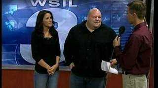 WSIL TV 3 interview-MMA Princess of Pain Tammy Launay,Butterbean