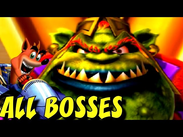 Crash Nitro Kart - ALL Boss Races + Cutscenes