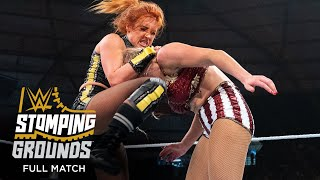 FULL MATCH Becky Lynch vs Lacey Evans Raw Women s Title Match WWE Stomping Grounds 2019