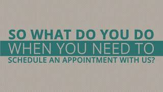 Making an Appointment Online