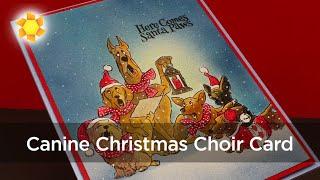 Santa Paws Christmas Choir (pencil, meet airbrush)