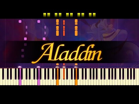 Friend Like Me Piano  ALADDIN