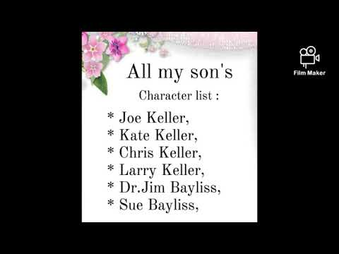 """""""All my son's""""play by Arthur Miller // character list."""