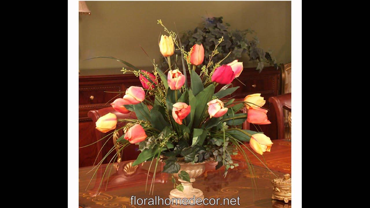 Silk Arrangements For Home Decor Silk Flower Arrangements Floral Home Decor Youtube