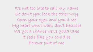 Forever Part of Me-From Justin To Kelly *Lyrics*