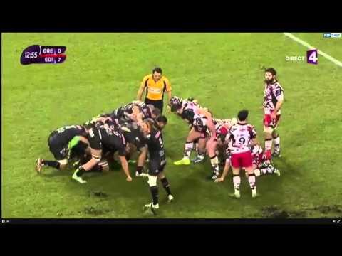 European Rugby Challenge Cup 2015-16.  Grenoble vs Edinburgh Rugby 23.01.2016