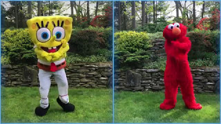DANCE OFF! Elmo Vs SpongeBob SquarePants! PSY - GANGNAM STYLE(강남스타일)