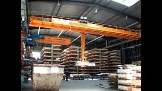 Кран мостовой для предприятия Heinrich Schutt Hamburg(Кран мостовой с магнитной траверсой г/п 5,6 тонн для транспортировки металлопроката., 2013-11-01T15:00:11.000Z)