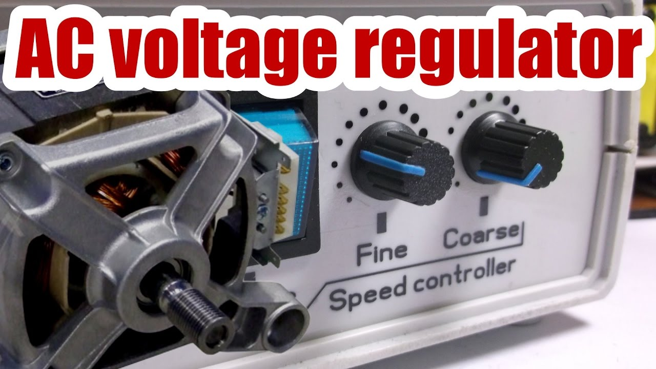 Device is ready! Speed control of AC motor (Voltage regulator) - YouTube