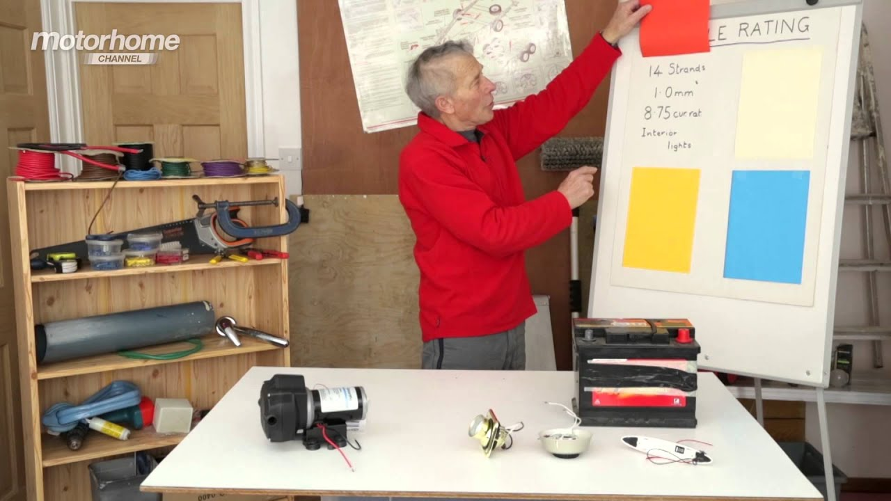 Mhc S04e42 Motorhome Basics Wiring Up 12 Volt Electricals Youtube Two Lights One Switch Diagram In Addition Light