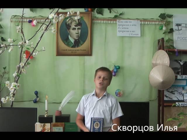 Изображение предпросмотра прочтения – ИльяСкворцов читает произведение «Разбуди меня завтра рано…» С.А.Есенина