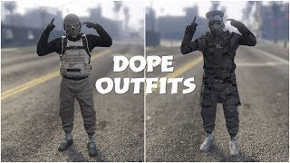 GTA 5 ONLINE CREATE A 2 DOPE MODDED OUTFITS USING CLOTHING GLITCHES 1.45!