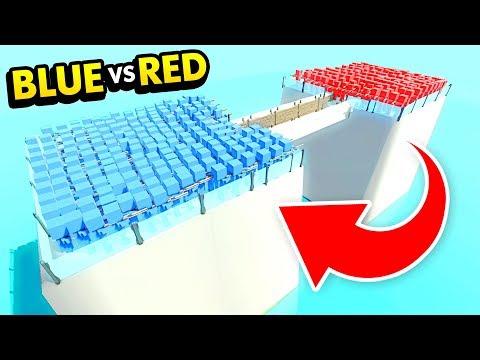 FUTURE BLUE Vs FUTURE RED ON FROZEN BRIDGE OF DOOM IN ANCIENT WARFARE 3 (Ancient Warfare 3 Gameplay)