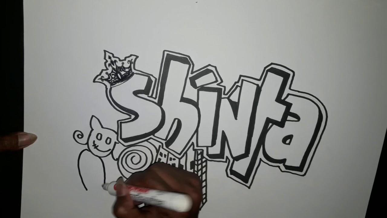 Cara mudah buat nama doodle art shinta shint mukhliez