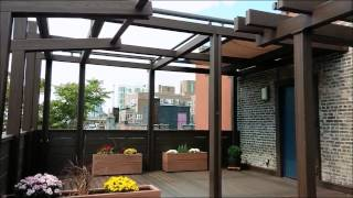Nyc Terrace Deck Pergola Shade Motorized Awning - Tosa Design