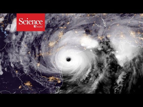 Watch a hurricane put a dent in Earth's crust