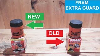 Fram Extra Guard Oil Filter - NEW vs OLD - What's Different?