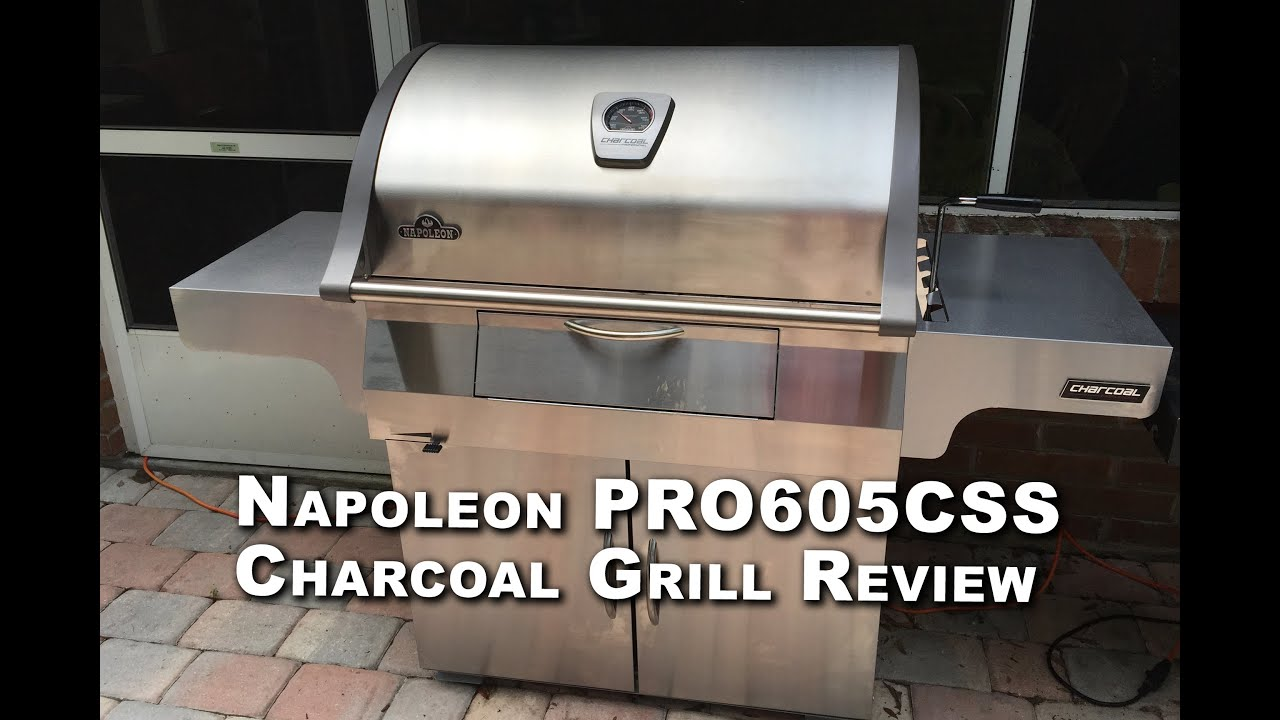 Napoleon Holzkohlegrill Pro 605 Css : Napoleon pro css charcoal grill review youtube