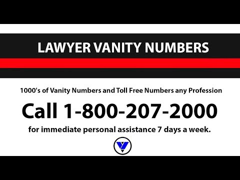 Lawyer Vanity Numbers