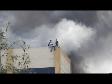 Rescate Incendio Ministerio de Hacienda