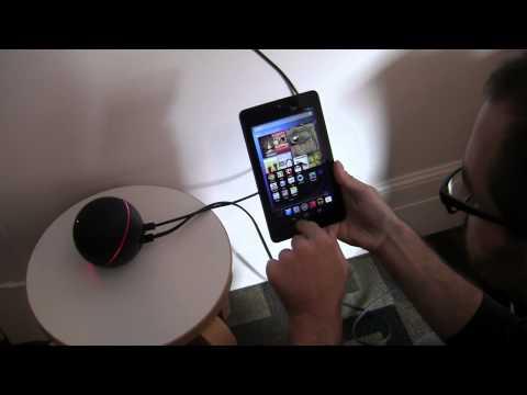 Nexus Q Streaming Media Demo with Nexus 7 Remote