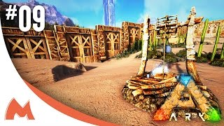 ARK: Scorched Earth - NEW BASE LOCATION! SETTING UP WALL & WATER WELL! (E09)