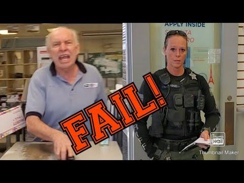 """""""GET OUT NOW"""" POSTAL MELTDOWN! 1ST AMENDMENT AUDIT FAIL! Randolph, Vermont!"""