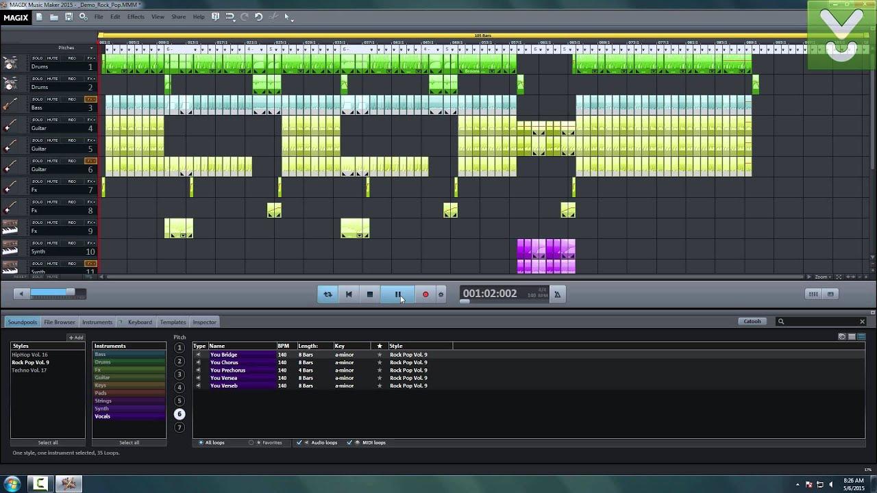 magix music maker 2015 download