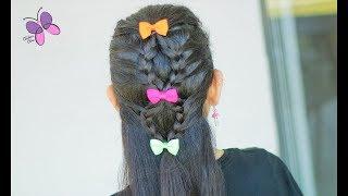 Pull Back Braids | Braided Hairstyles | Cute Girly Hairstyles | ChikasChicEng