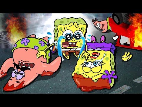 Noooo!😢 Good Family Vs Bad Family 😇👿-Sad Story Animation- Poor Baby Spongebob Life | SLIME CAT