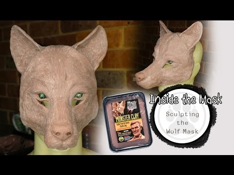 Wolf Mask Sculpting - With Monster Clay