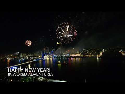 Jacksonville FL New Year Fireworks HD