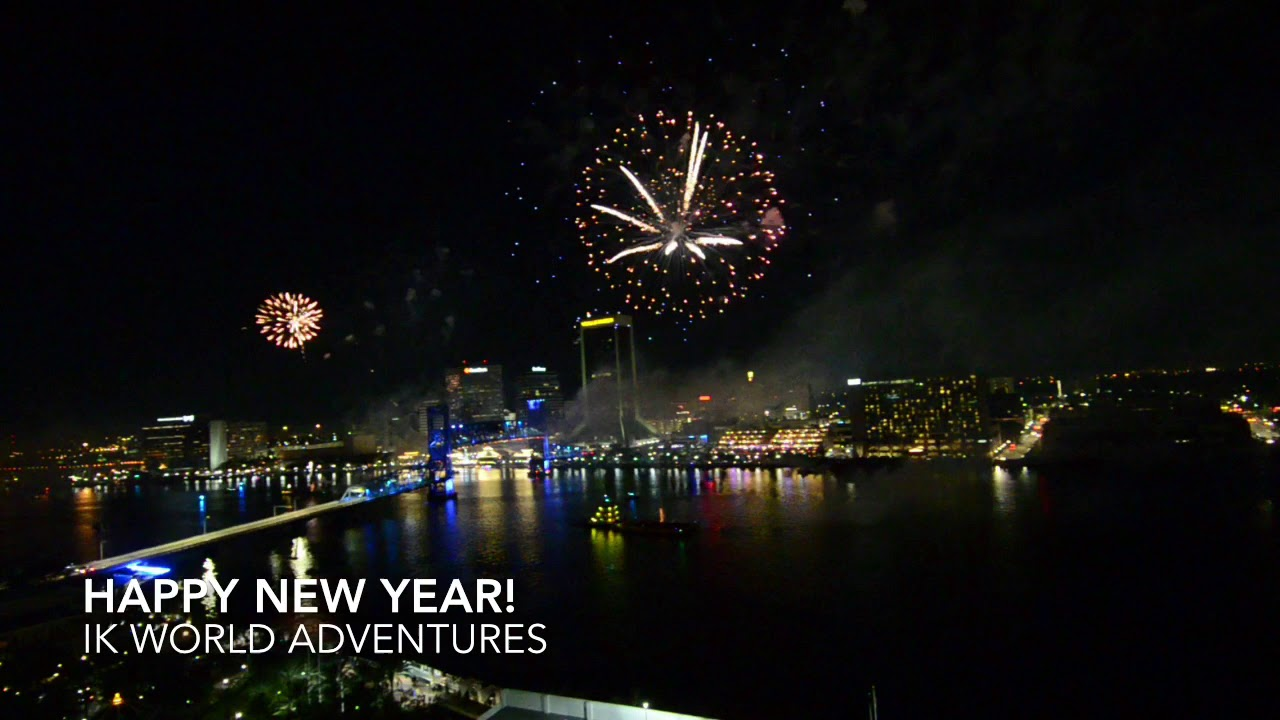 Jacksonville FL New Year Fireworks HD - YouTube