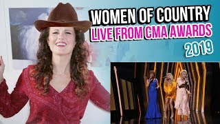 Vocal Coach Reacts to The Women of Country Performance 2019 CMA Awards