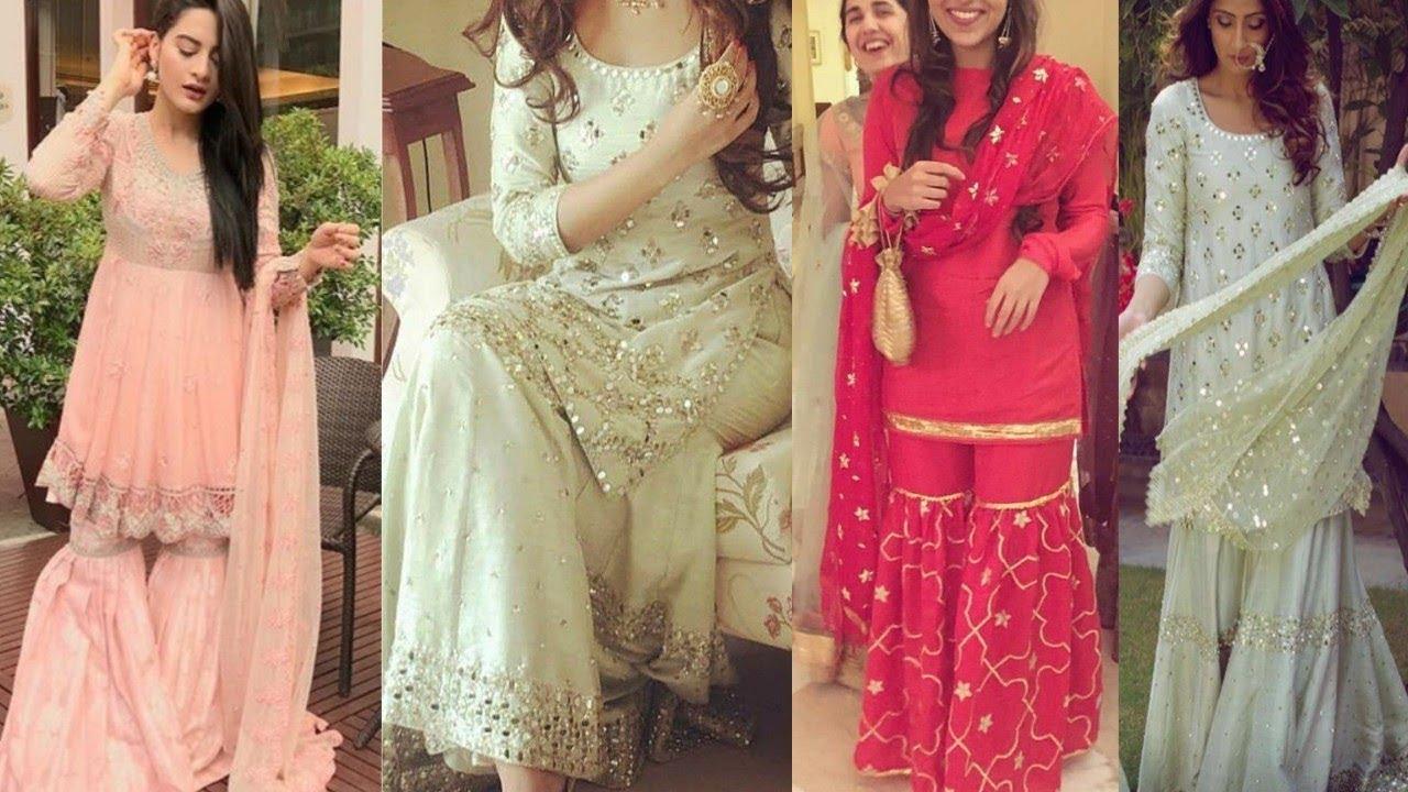 568934c789 Latest Trendy Sharara/Garara Dresses Design 2018 || Beautiful Sharara/Garara  Design Must Watch !!