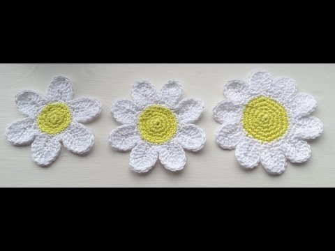 How to Crochet a Trio of Daisy / Flower  Tutorial