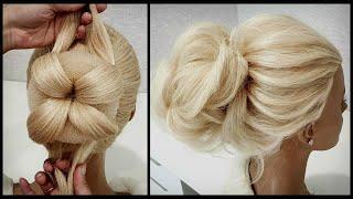 Простая и легкая Свадебная и Вечерняя прическа.Подробно!Simple and easy wedding and evening hairstyl