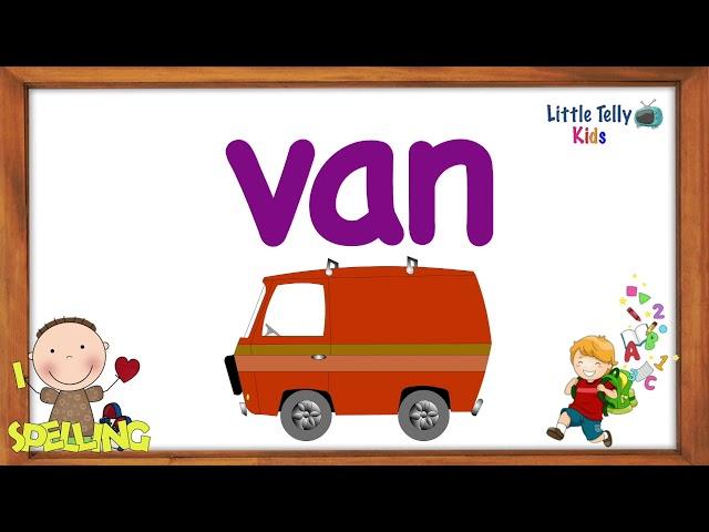 Three Letter Words || Preschool Learning || 3 letter words Kids Education Video || 3 Letter Words