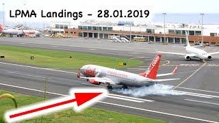 Madeira Airport Landings LPMA 28 January 2019