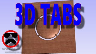 Using 3D Tabs in Vectric Software – Part 10 – 3D Carving for Beginners screenshot 3