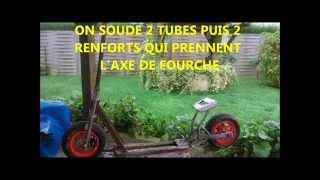 Fabriquer une trottinette moteur thermique + Essais