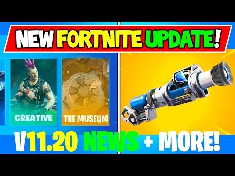 *NEW* Fortnite UPDATE V11.20 Changes! + The Museum & Slurp Soaker + More Concepts!