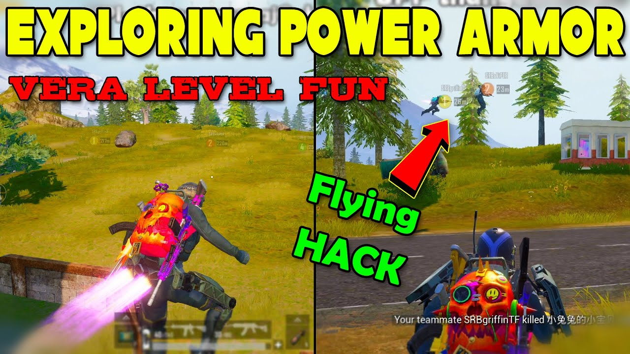 Flying HACK Given by PUBG - Exploring Power Armor Mode Fun Filled Game